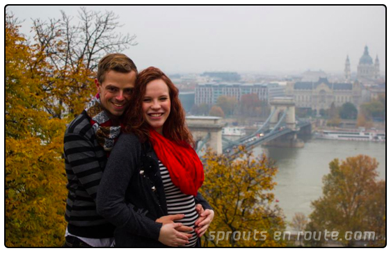 Autumn, her husband Travis, and their little bun in the oven, Jeremiah Scott.