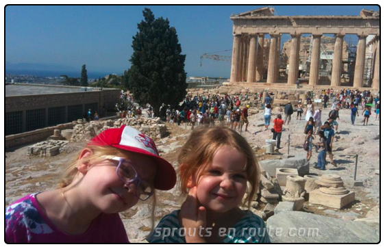 kids at the acropolis