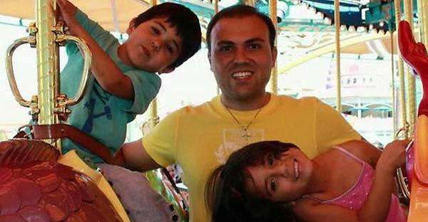 Pastor Saeed with his two children before his imprisonment. photo credit