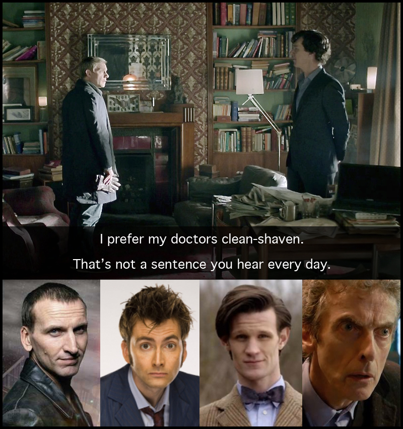 Sherlock Clean-Shaven Doctor Who Wholock