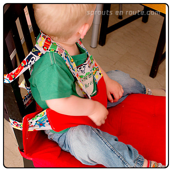DIY Travel High Chair 2
